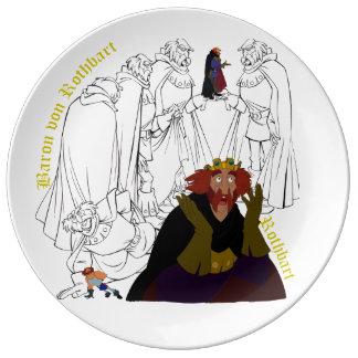 """Prato De Porcelana Placa do esboço da porcelana de Rothbart (10,75"""")"""