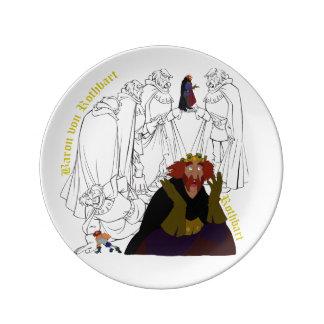 """Prato De Porcelana Placa do esboço da porcelana de Rothbart (8,5"""")"""
