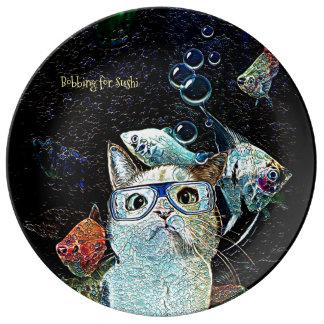 Prato De Porcelana Placa engraçada da porcelana da fantasia do humor