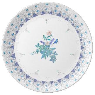 Prato De Porcelana Placa formal francesa