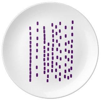 Prato De Porcelana Placa grande roxa do ADN