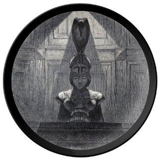 Prato De Porcelana Placa nunca mais preta