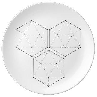 Prato De Porcelana Placa sagrado da geometria 4