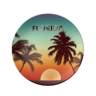 Prato De Porcelana Por do sol de Florida