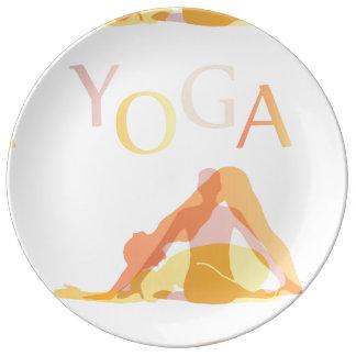 Prato De Porcelana Poses da ioga