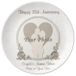 Prato De Porcelana Presentes personalizados do aniversário para pais
