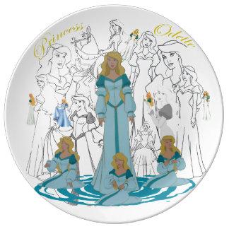 """Prato De Porcelana Princesa ODETTE Porcelana Esboço Placa (10,75"""")"""