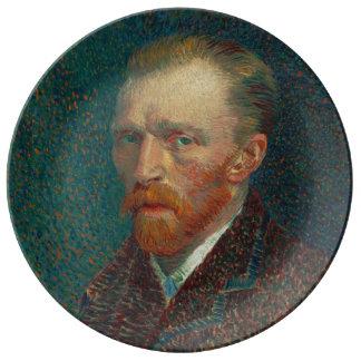 Prato De Porcelana Retrato de auto Vincent van Gogh 1887