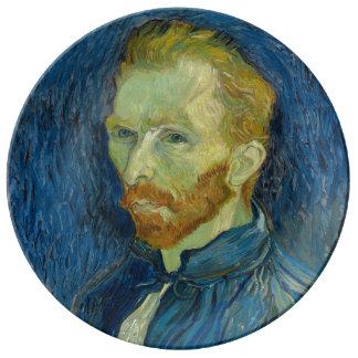 Prato De Porcelana Retrato de auto Vincent van Gogh 1889