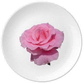 Prato De Porcelana Rosa do rosa