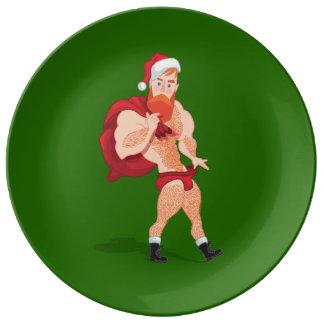 Prato De Porcelana Santa Claus