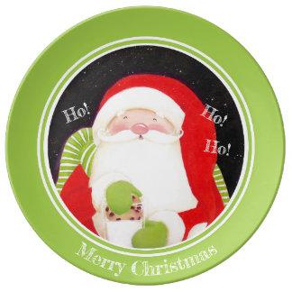 Prato De Porcelana Seja alegre! Placa clássica do Natal da porcelana