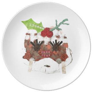 Prato De Porcelana Senhora Pudim Porcelana Placa