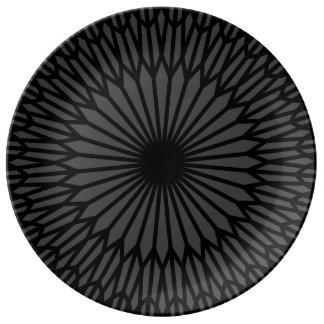 """Prato De Porcelana Smokey 10,75"""" placa decorativa da porcelana"""
