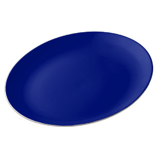 Prato De Porcelana Somente cor sólida elegante azul escuro OSCB33
