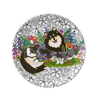 Prato De Porcelana Tamanho finlandês da placa 2 da arte da porcelana