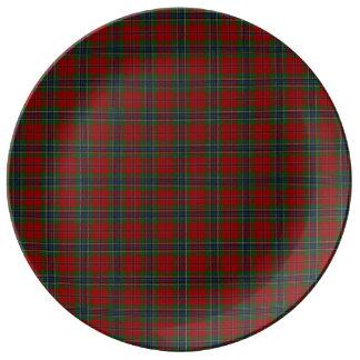 Prato De Porcelana Tartan MacLean moderno escocês de Maclean de Duart