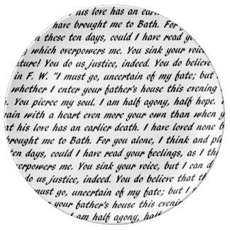 Prato De Porcelana Texto da persuasão