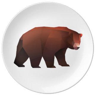Prato De Porcelana Urso de urso de Facetnation