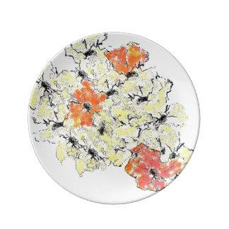 Prato De Porcelana Verão em Wildflowers da queda