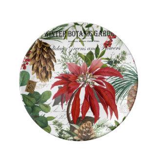 Prato De Porcelana Wintergarden moderno do vintage floral