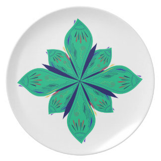 Prato Deco verde de Ethno da mandala