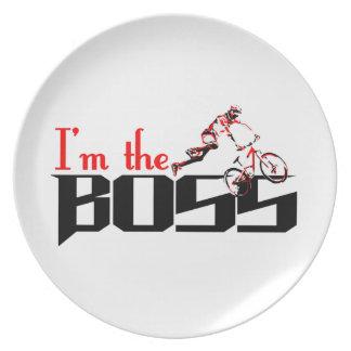 Prato Design da bicicleta do chefe