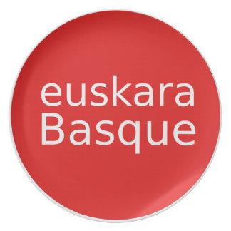 Prato Design da língua Basque