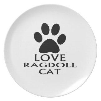 PRATO DESIGN DO CAT DO AMOR RAGDOLL