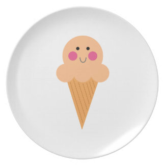 Prato Design do sorvete no branco