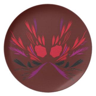 Prato Design do tatuagem do henna do chocolate