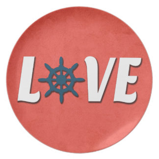 Prato Design náutico do amor
