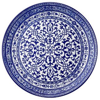 Prato Design romano do século XVI azul e branco