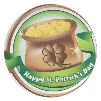 Prato Dia de São Patrício feliz, feriado irlandês do