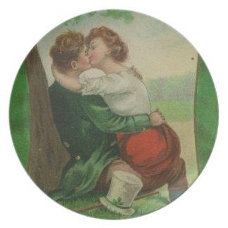 Prato Dia romance de Ireland St Patrick irlandês do