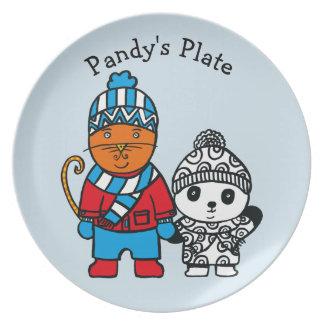 Prato Dillon e Pandy personalizados