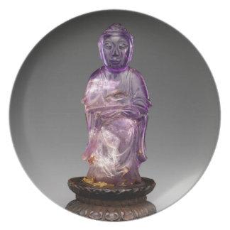 Prato Dinastia assentada de Buddha - de Qing (1644-1911)