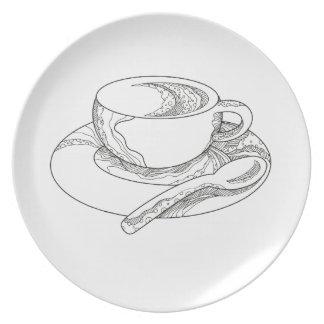Prato Doodle da chávena de café