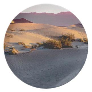 Prato Dunas de areia lisas o Vale da Morte do Mesquite