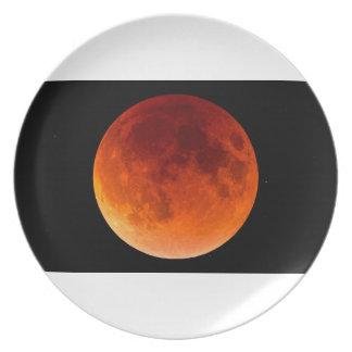 Prato Eclipse da lua do sangue