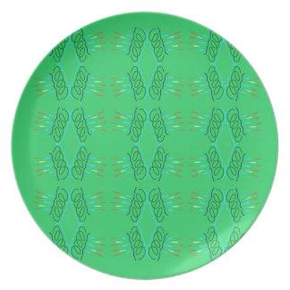 Prato Eco verde das mandalas do bem-estar