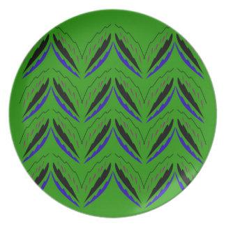 Prato Eco verde dos elementos do design