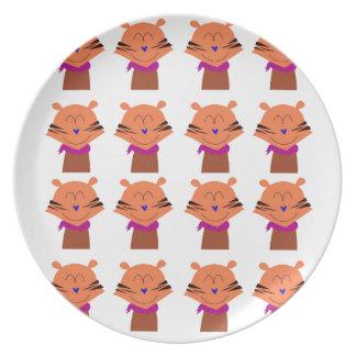 Prato Edição dos miúdos das raposas dos elementos do