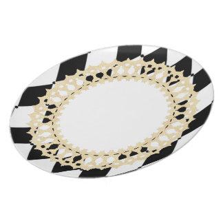 Prato Elegant-Harlequin_French_Gold-Shield---Louça
