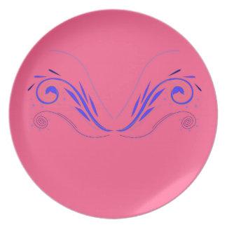 Prato Elementos do design no rosa