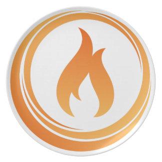 Prato Elementos do fogo