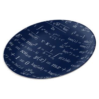 Prato Equações da placa de China da matemática e da