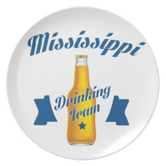 Prato Equipe do bebendo de Mississippi