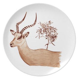 Prato Esboço animal do desenho dos animais selvagens do