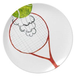 Prato Esboço da bola de tênis